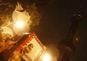 На знаменитой телебашне Жемчужина Востока в Шанхае произошел пожар