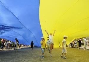 В Киеве 23 августа образуют  живой  флаг