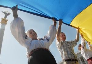 В день государственного флага в Киеве растянут самую длинную сине-желтую ленту