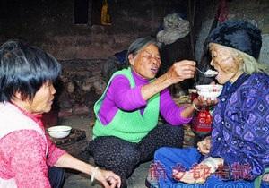 Китайская долгожительница неожиданно  воскресла  на собственных похоронах