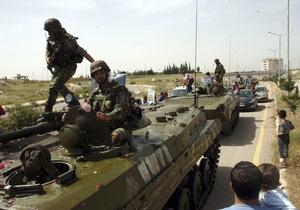 Сирия ввела танки в город Баниас