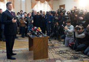На пресс-конференцию Януковича в зал прямой трансляции пустят половину аккредитованных журналистов