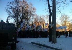 Суд по делу ЕЭСУ: сторонники Тимошенко не испугались 17-тиградусного мороза