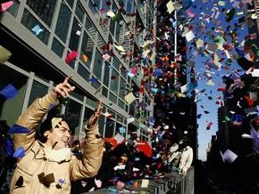 В Нью-Йорке предлагают встретить Новый год в туалете