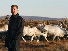 Медведеву подарили северного оленя