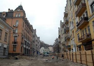 В мэрии заверили, что дома на Андреевском спуске сохранят свой исторический вид после ремонта