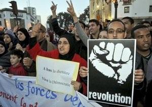 В Марокко проходит многотысячная акция протеста