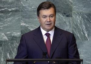 Янукович выступил на Генассамблее ООН. СМИ сообщили, что анонсированную пресс-конференцию отменили