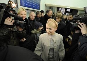 Тимошенко завтра поучаствует в заседании ВАСУ