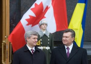 Янукович принял премьер-министра Канады