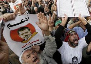 Египтяне отмечают годовщину правления Мурси протестами