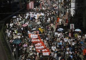 Жители Гонконга протестуют против курсов патриотизма
