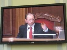 Яценюк отказался вести заседание Верховной Рады