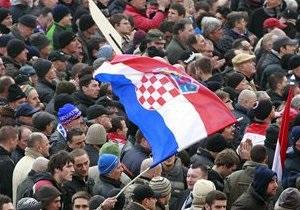 В Хорватии прошли массовые антиправительственные демонстрации
