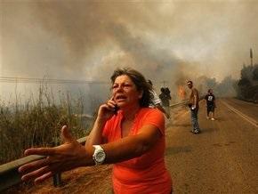 В окрестностях Афин горят дома. Объявлено чрезвычайное положение