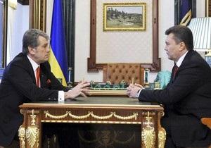Опрос: Рейтинги Януковича и Ющенко в первые 100 дней их президентства почти одинаковы