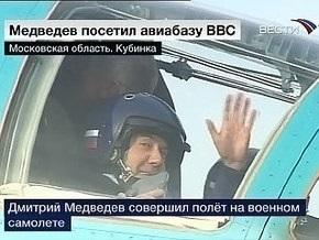 Медведев полетал на истребителе