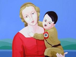 Картина с изображением Адольфа Гитлера на руках у Девы Марии вызвала скандал в Италии