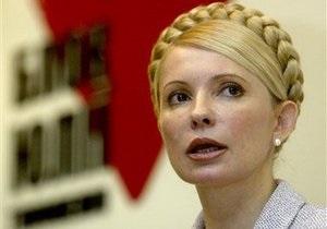 Тимошенко в понедельник встретится с дипломатами