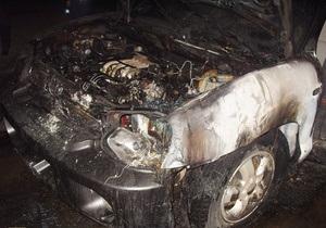 Новости Ужгорода: Неизвестные подожгли автомобиль заместителя мэра