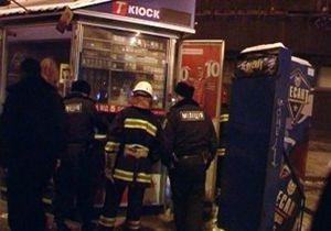 Киевские пожарные потушили сигаретный киоск
