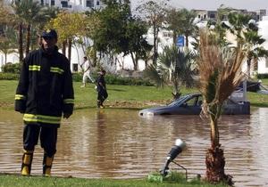 Фотогалерея: Водная стихия в Египте и Израиле