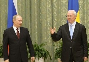 Источник: Путин и Азаров, возможно, проведут отдельную встречу в Петербурге