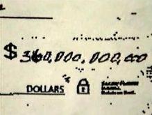 Житель США пытался обналичить чек на сумму 360 млрд долларов