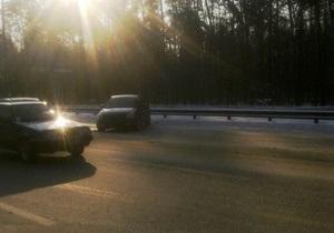 Вчера на Бориспольской трассе произошло 13 ДТП