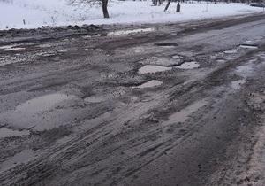 Луганский губернатор пожаловался Януковичу, что снег растаял вместе с асфальтом