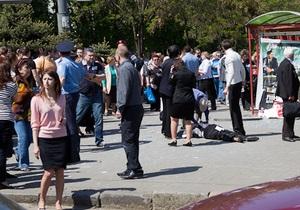 Милиция перекрыла центр Днепропетровска