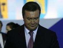 Янукович не смог прочитать  нехорошее  слово