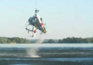 В Кременчуге вертолет упал в Днепр