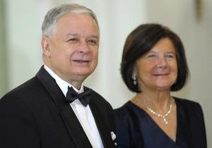 Российский телеканал перепутал жен Качиньского и Ющенко
