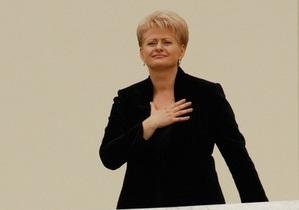 Евро в 2014 году в Литве не будет, признает президент Даля Грибаускайте