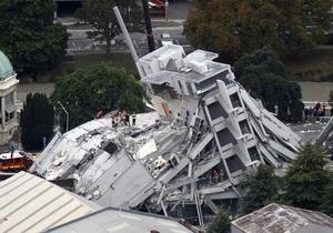 Власти Новой Зеландии повысили сумму ущерба от землетрясения до $15 млрд
