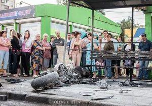ДТП в Киеве с участием мотоцикла, автомобиля и маршрутки: один погиб, восемь госпитализированы