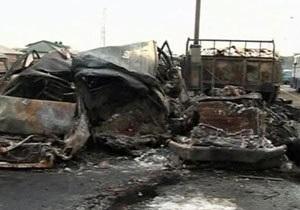 В автоаварии в Нигерии с участием 20 автомобилей сгорели заживо 15 человек