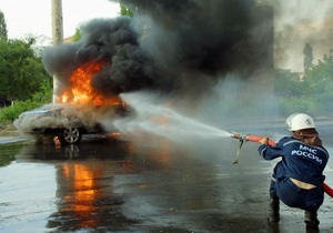 В России задержанный сгорел в полицейском автомобиле