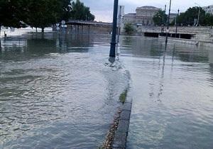 Наводнение в Европе - На территории Венгрии уровень во