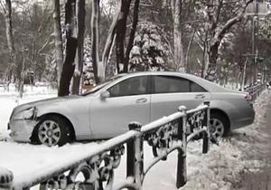 В центре Киева автомобиль народного депутата попал в ДТП