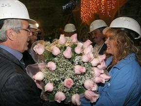 В Донецке Алла Пугачева спустилась в шахту