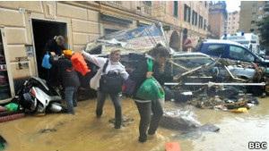 Италия: наводнение в Генуе унесло жизни шести человек