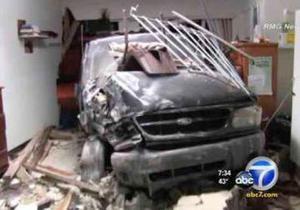 В США пьяный водитель въехал в стену  дома трезвости
