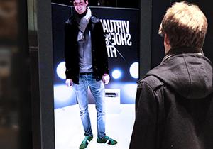 На вокзалах Германии появились виртуальные примерочные для обуви