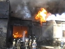 Сегодня в Киеве горел рынок Юность