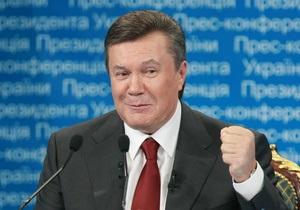Янукович поздравил предпринимателей с профессиональным праздником