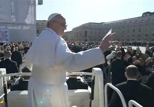 Папа Римский - Интронизация - прямая трансляция из Ватикана