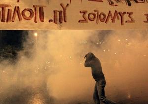 В Афинах в ходе стотысячной демонстрации задержаны более 100 человек