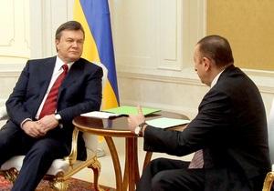 Янукович хочет видеть в Баку Украинский культурный центр